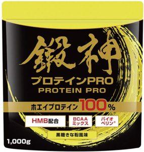 鍛神(キタシン) プロテイン PRO ホエイプロテイン 1000g (黒糖きな粉風味)